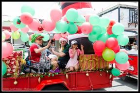 Greytown Xmas Parade - colourful.