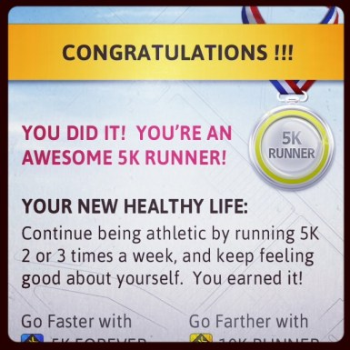 Finally finished the Couch to 5k! Tried multiple times over the past few years, but this time did it!