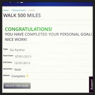 And I walked/ran/jogged/shuffled 500 miles since July 1st.