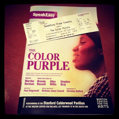 2014 01-16 The Color Purple Program and Ticket