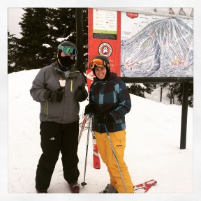 2015 02-28 Siblings Skiing on Stratton Summit
