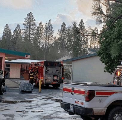 Georgetown Fire Department responded to a fire at Georgetown School yesterday