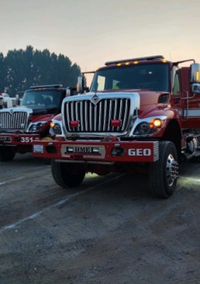 The Georgetown Fire Department has deployed on their first major wildfire of the season