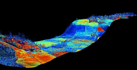 3D elevation of a LiDAR datastrip