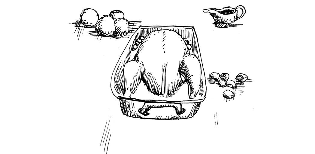 roast goose, dinner