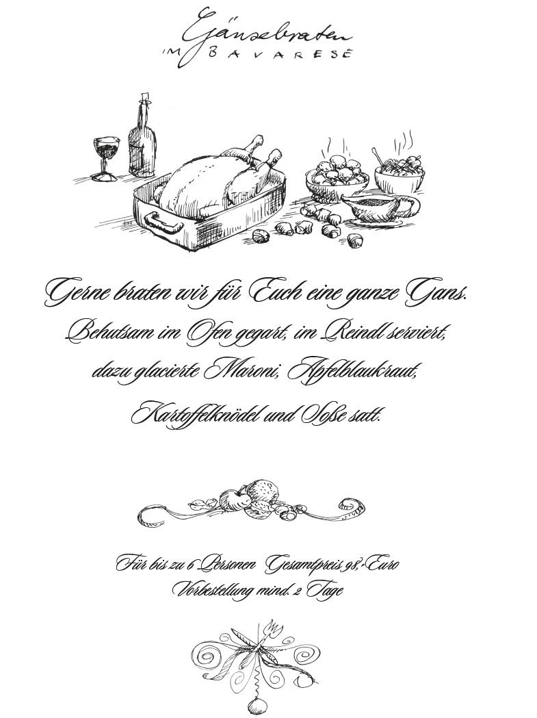 Roast Goose, illustrated