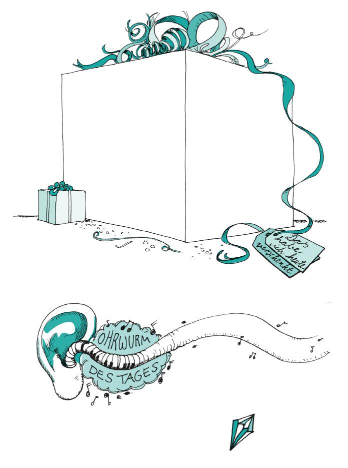Geschenk mit Schleife, Ohrwurm