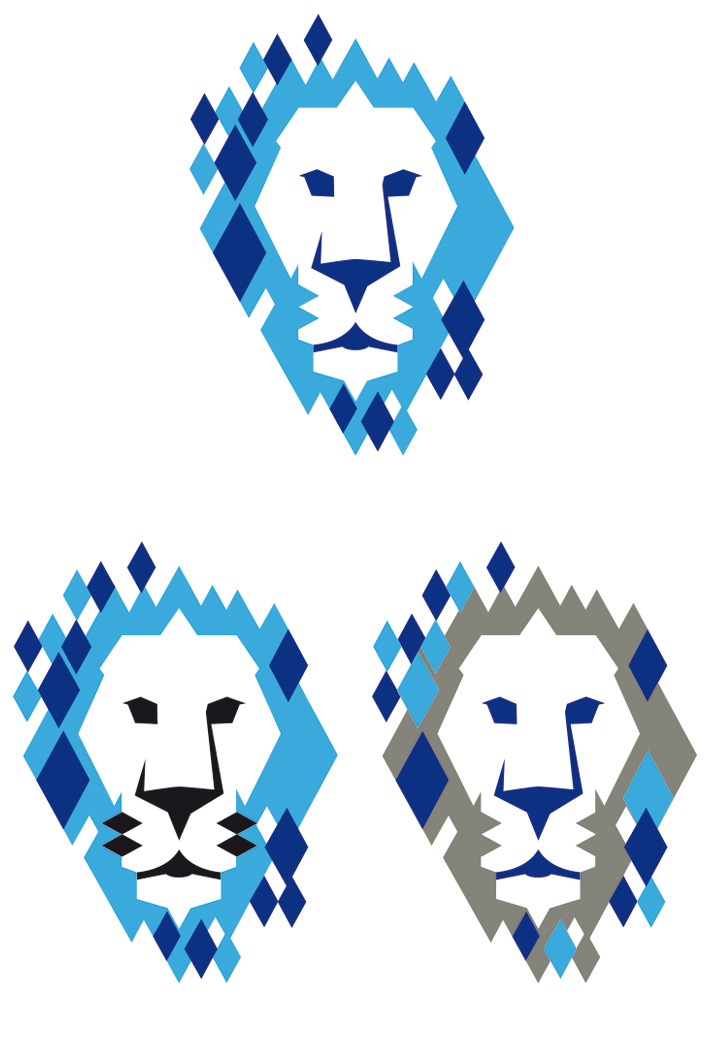 lion head coloured