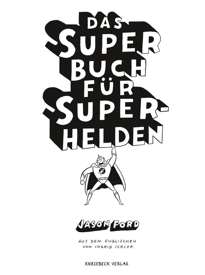 innenseite, inner side, Superbuch für Superhelden, sw,