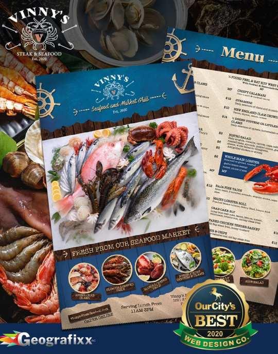 menu design vinny