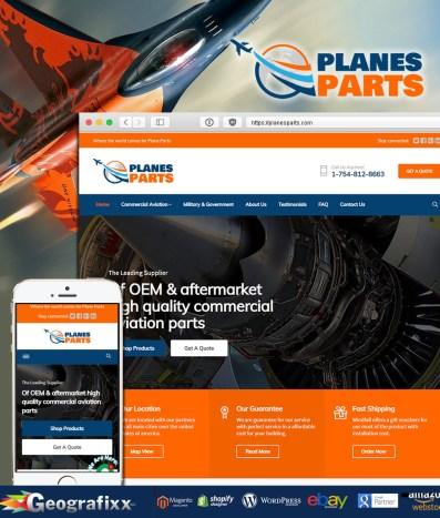 planes parts web design