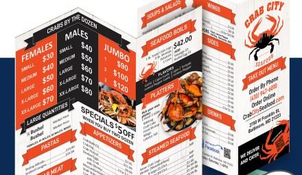 Restaurant menu DESIGN AND PRINT