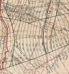 vimy barrage map 1917 extract  [ 1426 x 621 Pixel ]