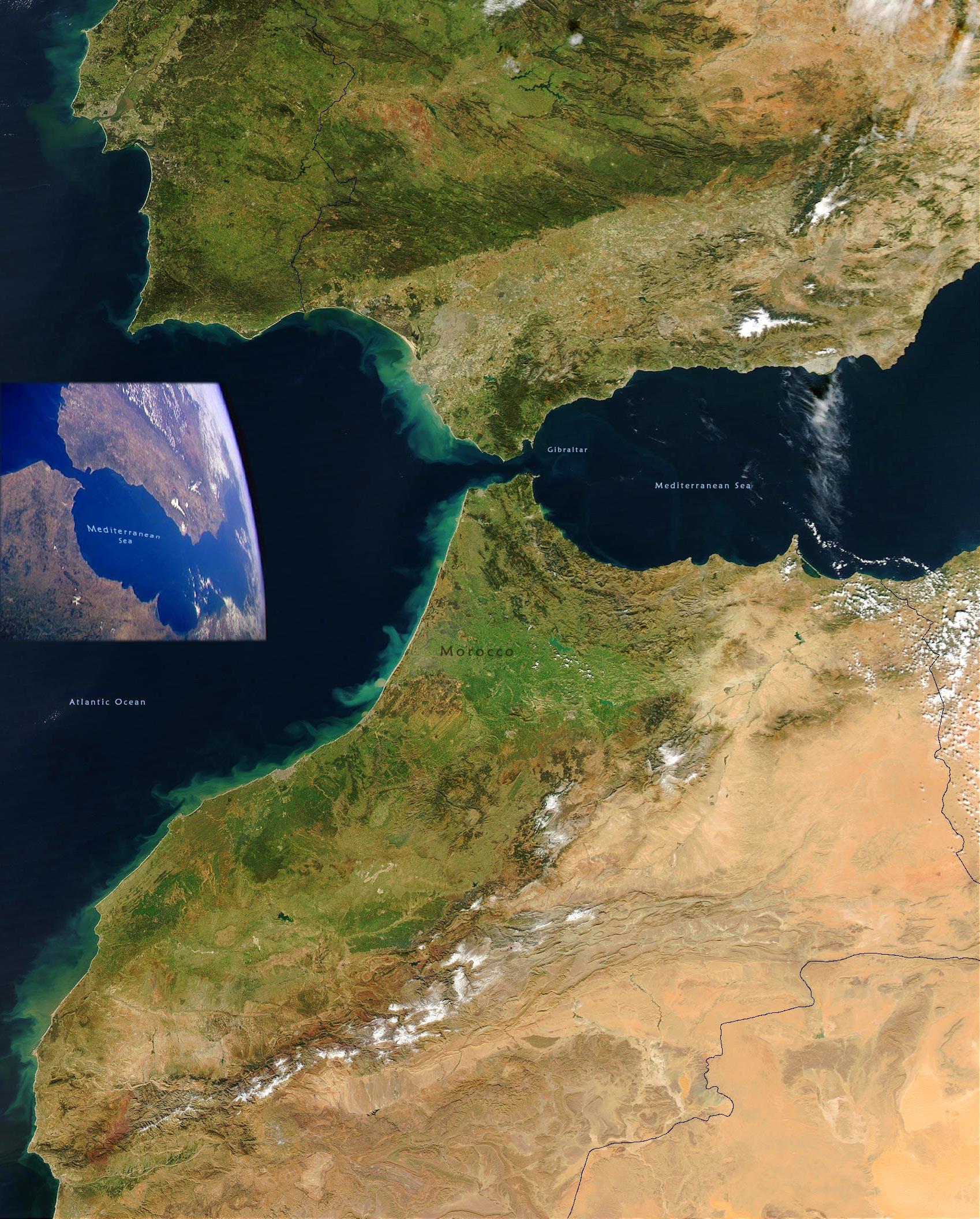MICHELIN Strait of Gibraltar map - ViaMichelin