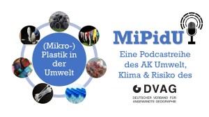 "Logo des Podcasts ""(Mikro-)Plastik in der Umwelt"" des AK Umwelt, Klima & Risiko"
