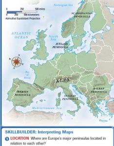 Peninsulas and islands also europe landforms resources rh geographyme