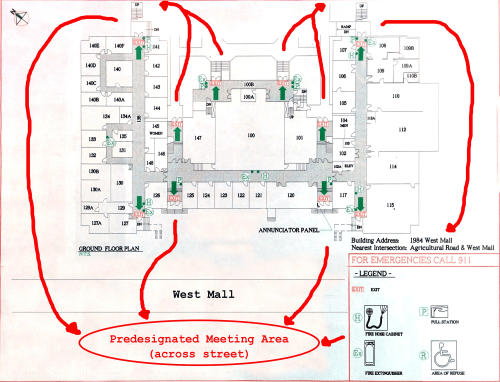 small resolution of floor plans emergency exits and life safety systems department of rh geog ubc ca fire door sc 1 st wiring diagrams