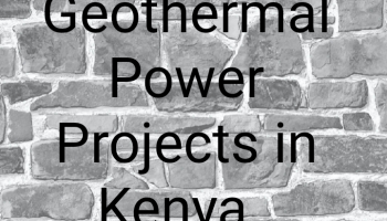 Geothermal power projects in kenya