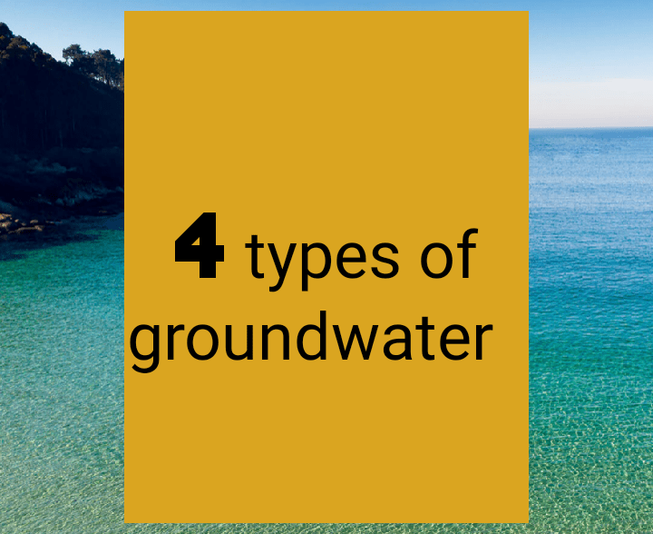 4 types of ground water