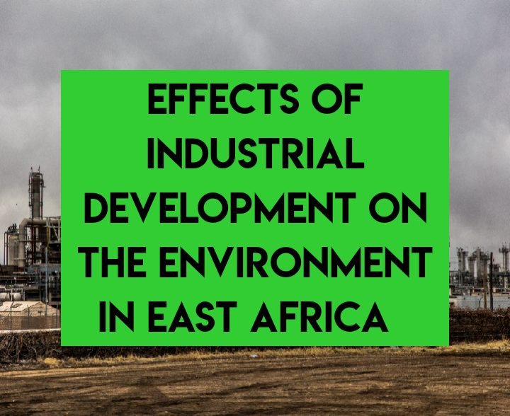Effects of industrial development on environment in East Africa