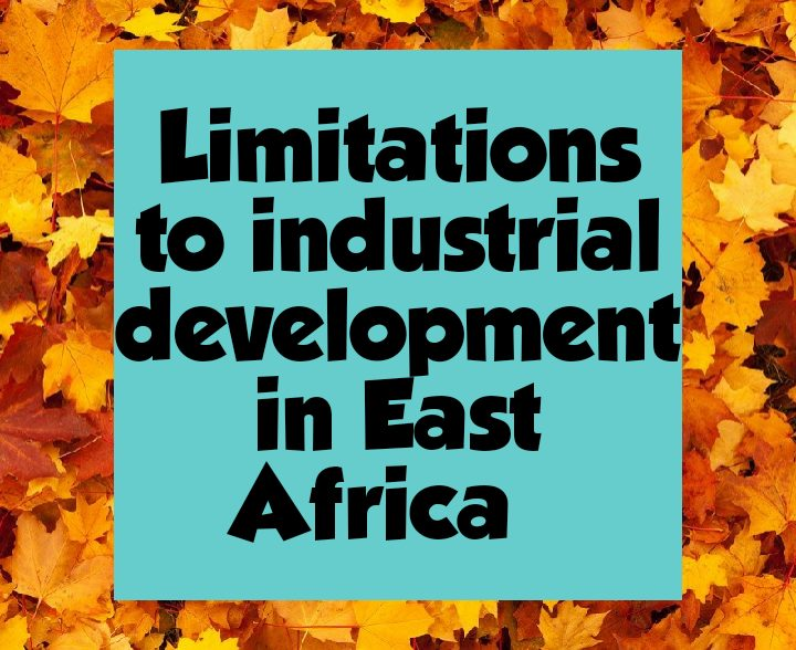 Limitations of industrial development in East Africa