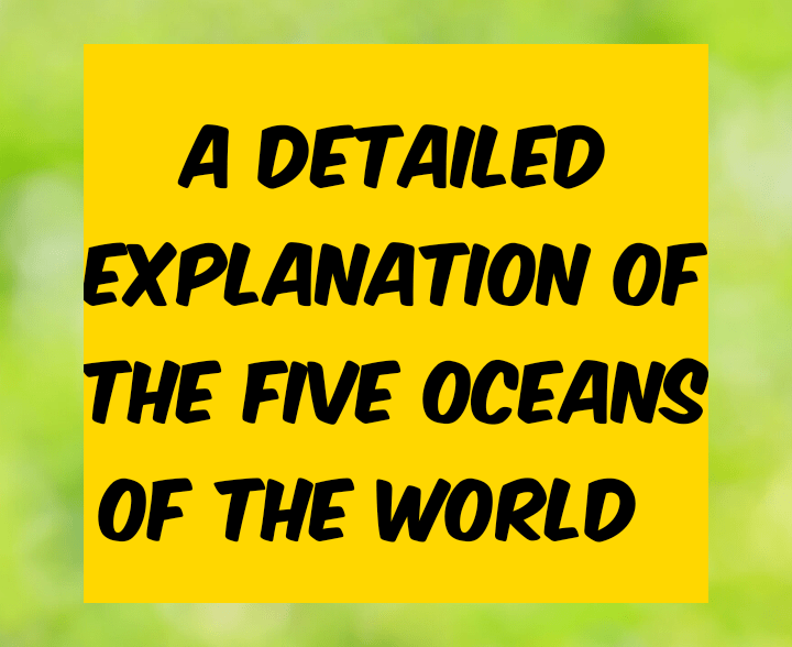 All you need to know about the five oceans of the world