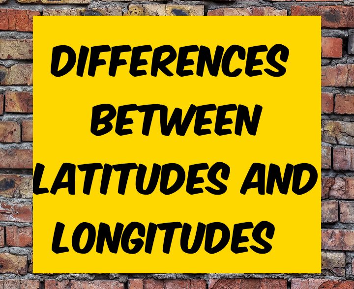 Difference between latitude and longitude