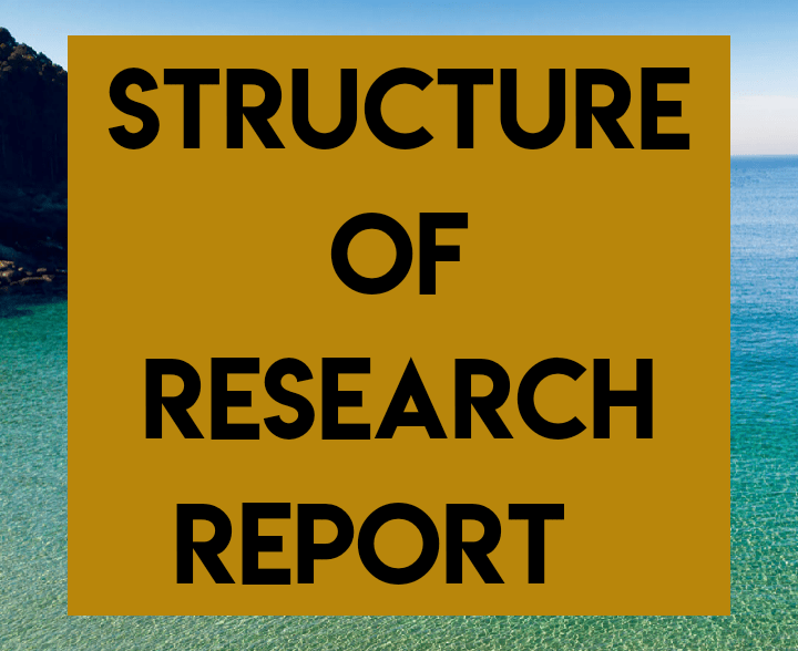 Structure of research report