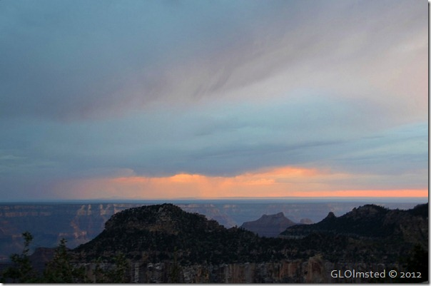 Sunset over Widforss Plateau North Rim Grand Canyon National Park Arizona
