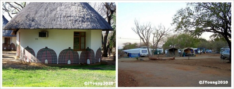 Chalet and campground Kruger National Park South Africa