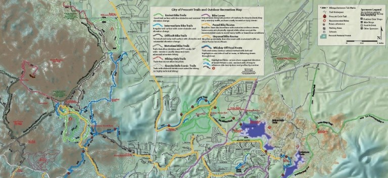 08 Map of Prescott & Granite Basin Lake area (1024x471)