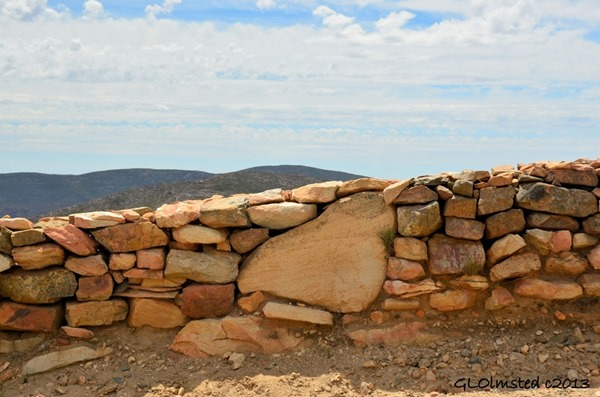 Dry stack rock walls along Swartberg Pass SA