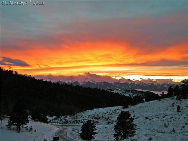 Pre-storm sunrise CO