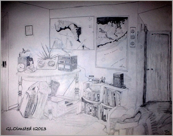 Pencil drawing Livingroom Bakersfield CA