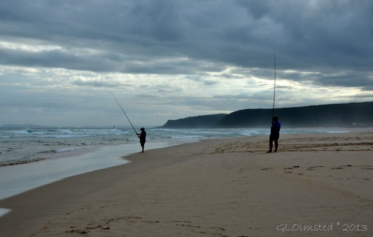 Fishermen on the beach at Tsitsikamma NP Nature's Valley SA