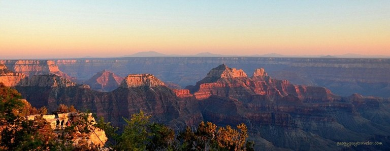 Last glow on canyon temples NR GRCA NP AZ