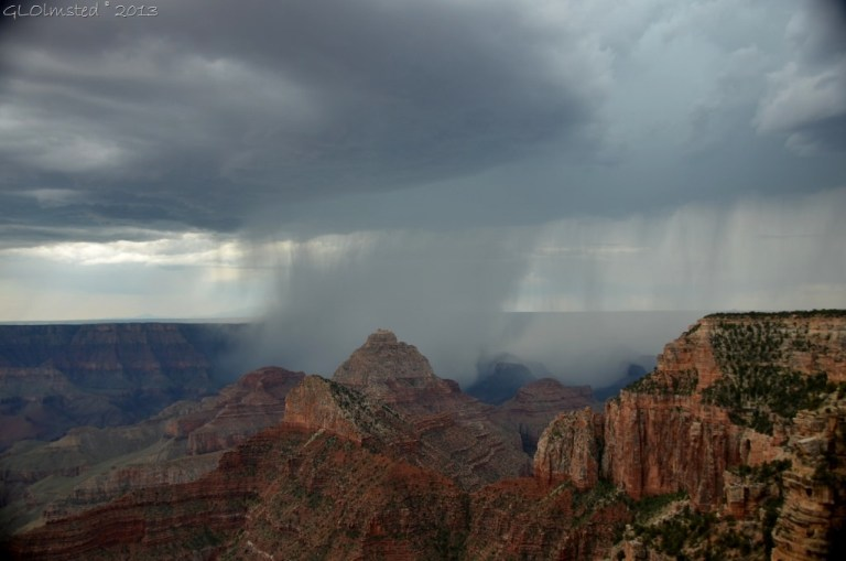 Rain in canyon from Walhalla overlook NR GRCA NP AZ