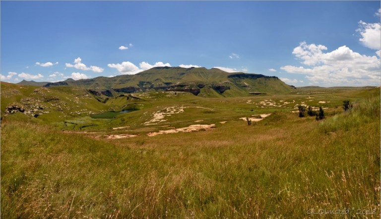 View from Blesbok Loop drive Golden Gate Highlands National Park South Africa