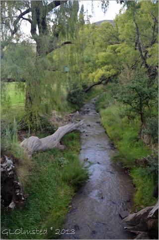 Little Caledon River behind camp Golden Gate Highlands National Park South Africa