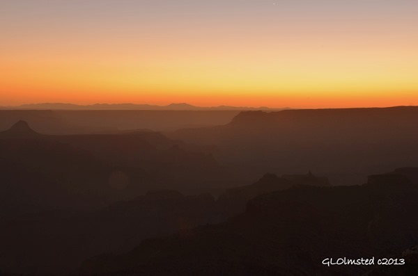 Sunset from Point Sublime North Rim Grand Canyon National Park Arizona