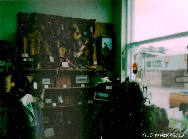 Western Art Show Founder's Day Window display Tonasket Washington 1984