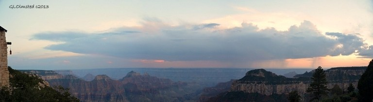 Sunset & virga from Lodge North Rim Grand Canyon National Park Arizona