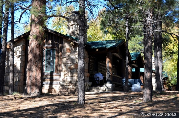 Cabins being cleaned North Rim Grand Canyon National Park Arizona