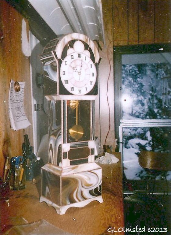 Grandfather clock Wenatchee Washington 1986