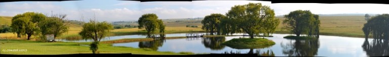 Dam at Green Cedars caravan park Madadeni South Africa