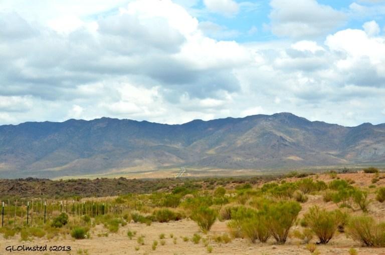 Weaver Mountains under clouds Congress Arizona