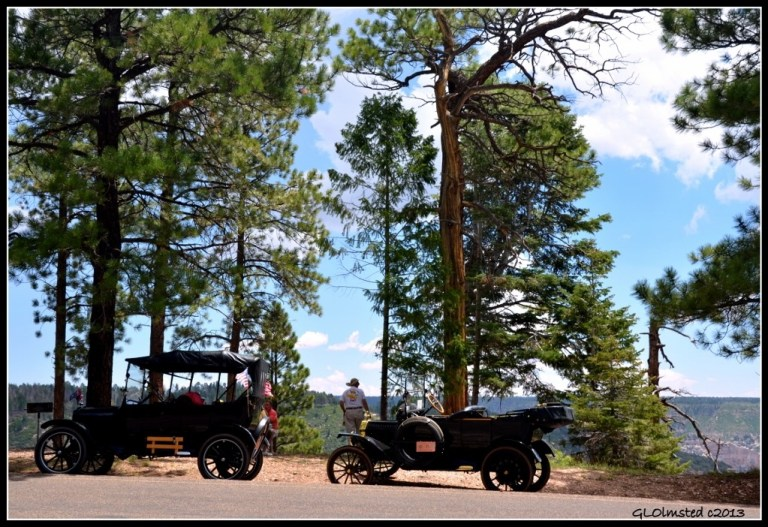 Classic cars at North Rim Grand Canyon National Park Arizona