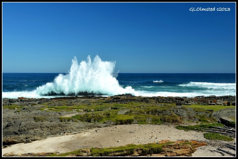 Crashing waves at Storms River Mouth Tsitsikamma National Park South Africa