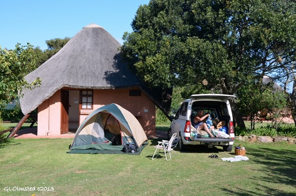 Camp by private bathroom Green Fountain Farm Resort Port Alfred South Africa