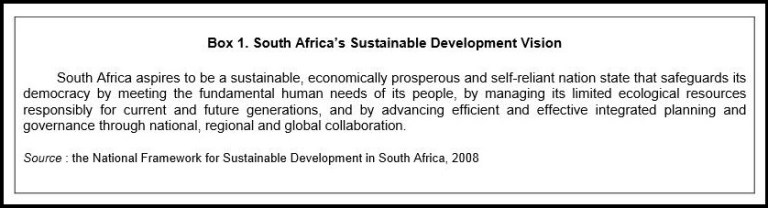 South Africa's Sustainable Development Vision